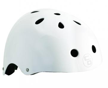 Curb Dog Helmet Shredder White Gloss One Size