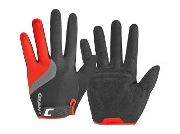 Giant Tour Long Finger Gloves Black Red