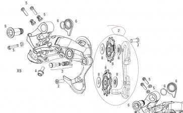 SRAM X7 TYPE 2 REAR DERAILLEUR CAGE KIT