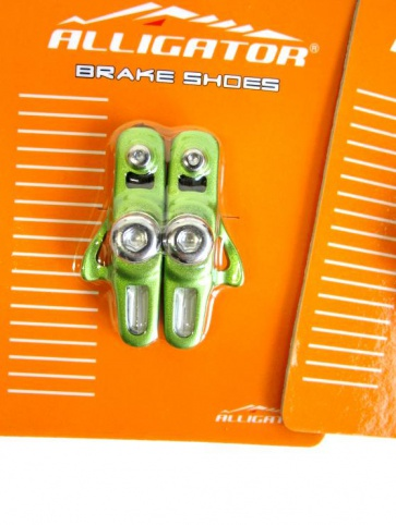 Alligator RD-302 3comp Road bike cartridge brake shoes green