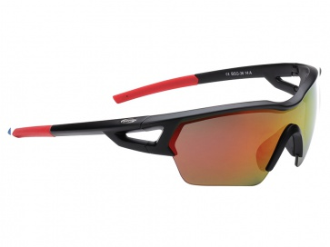 BBB BSG-3613 Arriver MLC Sport Sunglasses Matt Black Red Lens