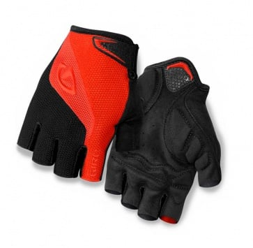 Giro Bravo Bicycle Cycling Gloves Half Fingers Black Red