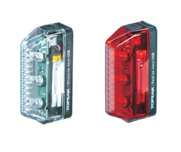 Topeak WhiteLite and RedLite Aero USB Combo Set TMS075