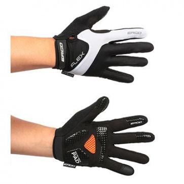 Ergo Mesh Flex Long Bicycle Gloves Micro Hexa Pad White