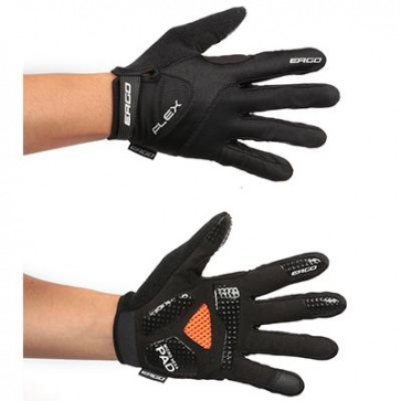 Ergo Mesh Flex Long Bicycle Gloves Micro Hexa Pad Black