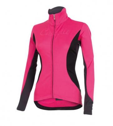 Castelli Transparente 2 wind jersey FZ womens Pink
