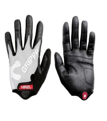 Hirzl grippp cycling gloves tour ff kangaroo long fingers White