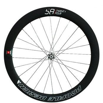 Profile Design 58 TwentyFour Full Carbon Clincher Disc Brake Front