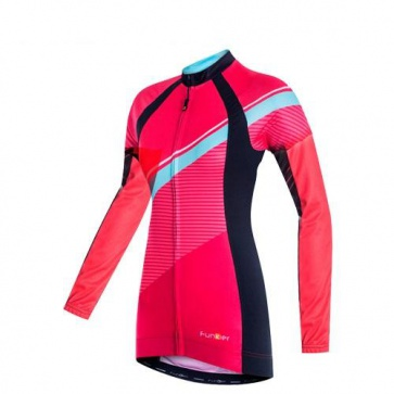 Funkier Luciana-L Womens Long Sleeve Cycling Jersey Purple