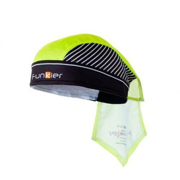 Funkier Mirandola Bandana Headwear-Neon Yellow