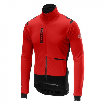 Castelli Alpha Ros Long Sleeves Winter Jacket (Red Black)