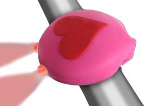 Clean Motion Light Rear Boogie Bug Pink Heart