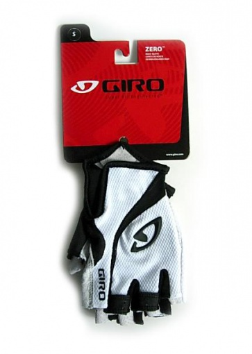2011 Giro Zero Half Finger Cycling Gloves Bicycle White