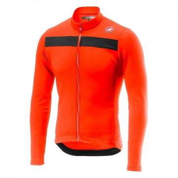 Castelli Long Sleeves Jerseys PURO 3 JERSEY FZ Orange