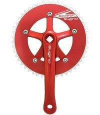 Sugino Rd2-Messenger 165-48t Crank Track Red