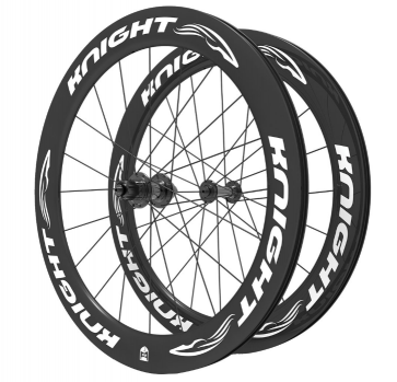 Knight Composites 65w-dt Swiss 240s Carbon Clincher Wheelset- 700c White