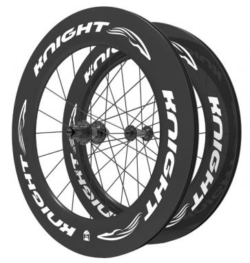 Knight Composites 95W-Dt Swiss 240s Carbon Clincher Front Wheelset- 700c white