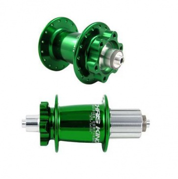 CHRIS KING BIKE BICYCLE ISO DISC HUB SET 6BOLT GREEN