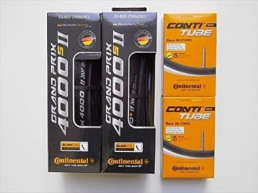 Continental 4000S2  Road Tires x2 Tube x2 700x23C