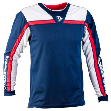 Race Face Stage Jersey LS Navy Flame