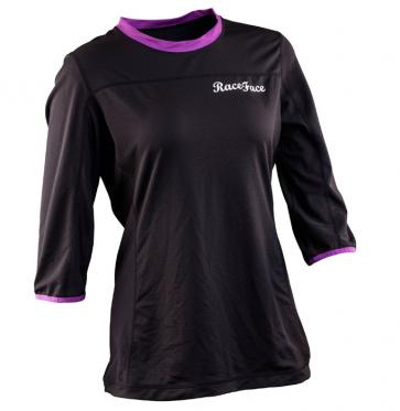 Race Face Khyber Women Jersey 3-4 Sleeve Black-Grape