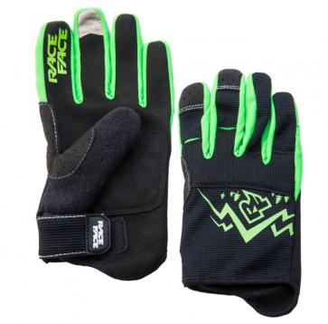 Race Face Dewey Youth Gloves Black Green