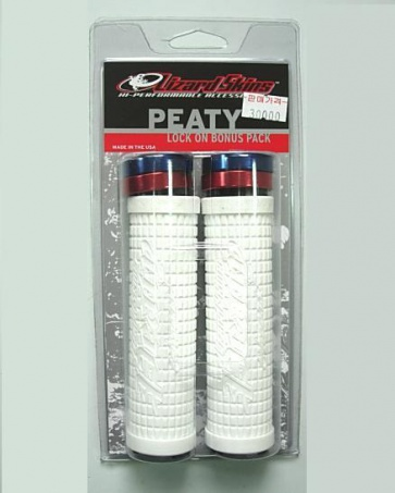 LIZARDSKINS PEATY LOCK-ON BICYCLE BIKE HANDE GRIP WHITE
