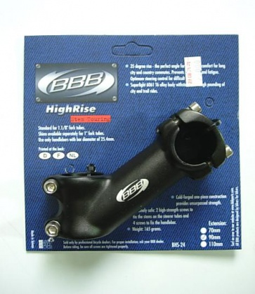 BBB HIGH RISE BIKE STEM BICYCLE BHS-24 35DG 70mm