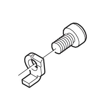 Shimano FD-M770 cable fixing bolt and flat Y5KA98010