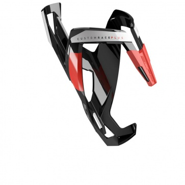 Elite Custom Race Plus Bottlecage Black, Red Glossy