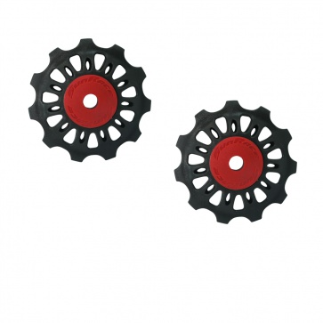 Sunrace Pulley Set 11t black/red