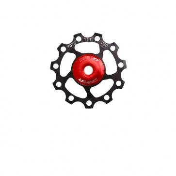 Sunrace Gearwheel 11t Alu CNC Black Red Ceramic Cartridge Bearing