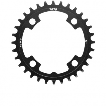 Sunrace 1x11s Chainring Alu Narrow Wide 32T Black BCD 96mm