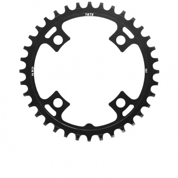 Sunrace 1x11s Chainring Alu Narrow Wide 38T Black BCD 96mm