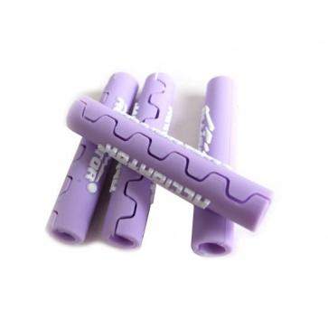 Alligator frame protect cable tube Purple shifter brake