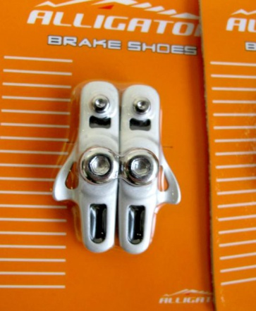 Alligator RD-302 Road bike cartridge brake shoes pads silver