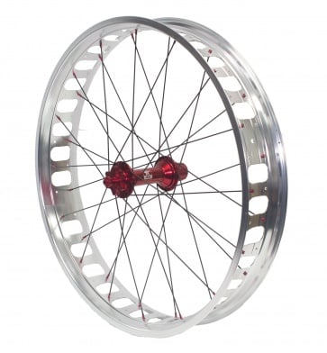 Anvil Completed Wheel Set Front 150mm TX Red Hub 26inch 100Rim Silver