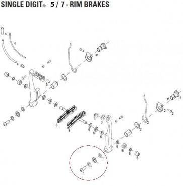 Avid Brake Arm Mount Kit Single Digit 7