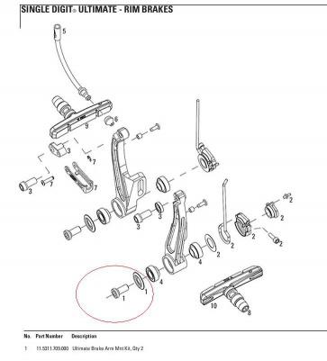 Avid Brake Arm Mount Kit Single Digit Ultimate