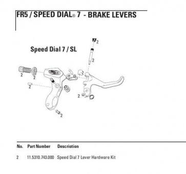Avid Lever Hardware Kit Speed Dial 7