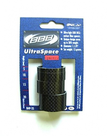 BBB BHP-35 UltraSpacer Carbon Space ring set