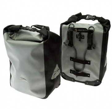AXIOM MONSOON LX PANNIER SET GREY/BLACK