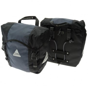 AXIOM MACKENZIE DLX PANNIER SET BLACK/GREY