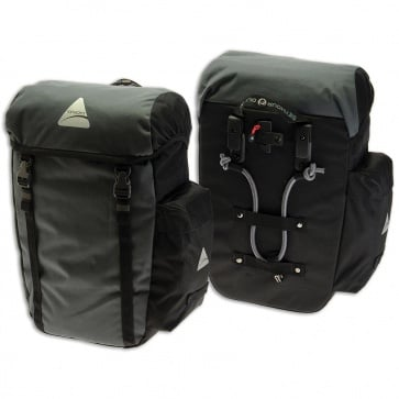 AXIOM SEYMOUR DLX 30 PANNIER SET GREY/BLACK