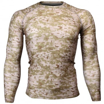 Btoperform Camo Desert Full Graphic Compression Long Sleeve Shirts FX-111D
