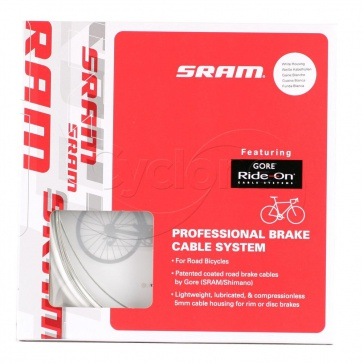 SRAM PRO BRAKE CABLE KIT GORE RIDE-ON ROAD WHITE