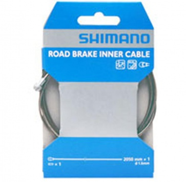 SHIMANO BRAKE CABLE SS ROAD 1.6x2050mm w/ CAP