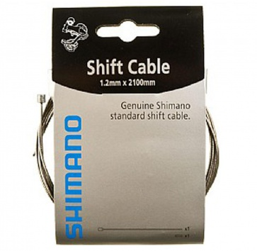 SHIMANO SHIFT CABLE ZINC 1.2X2100mm BOX/10