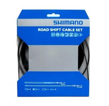 SHIMANO PTFE ROAD SHIFT CABLE & HOUSING SET BLACK