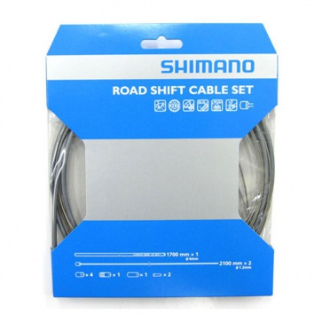 Shimano Ptfe Road Shift Cable & Housing Set - Grey